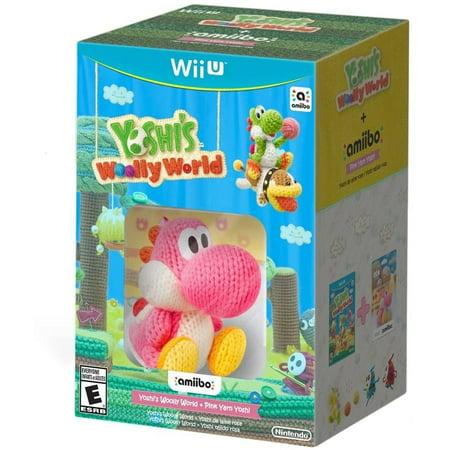 Yoshi's Woolly World + Pink Yarn Yoshi Amiibo (Wii (Super Mario World 2 Yoshis Island Rom)