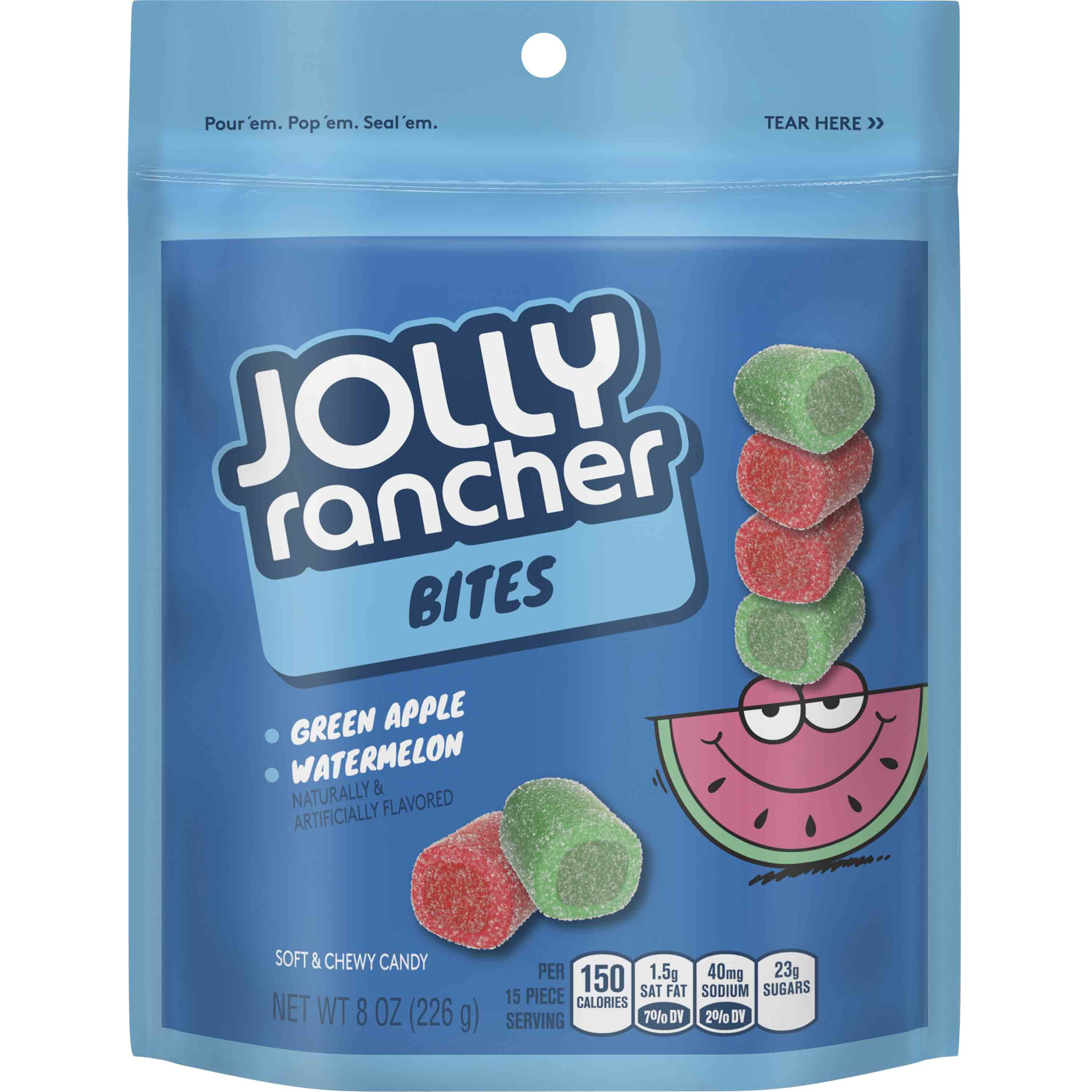 (3 Pack) Jolly Rancher, Green Apple & Watermelon Bites, 8 Oz