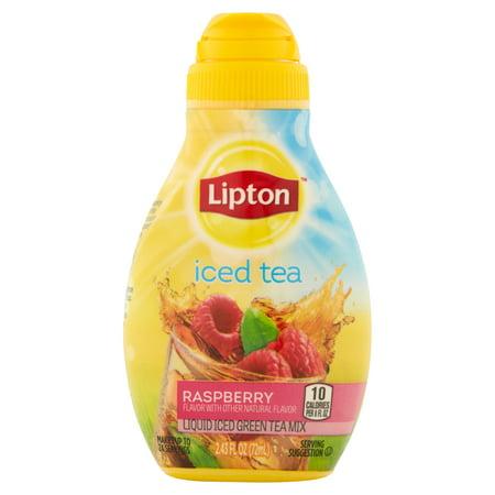 (8 Pack) Lipton Liquid Iced Green Tea Mix Raspberry 2.43 oz