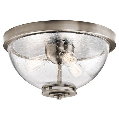 Flush Mounts 3 Light With Classic Pewter Finish Steel Material Medium 18 inch 180 Watts ()