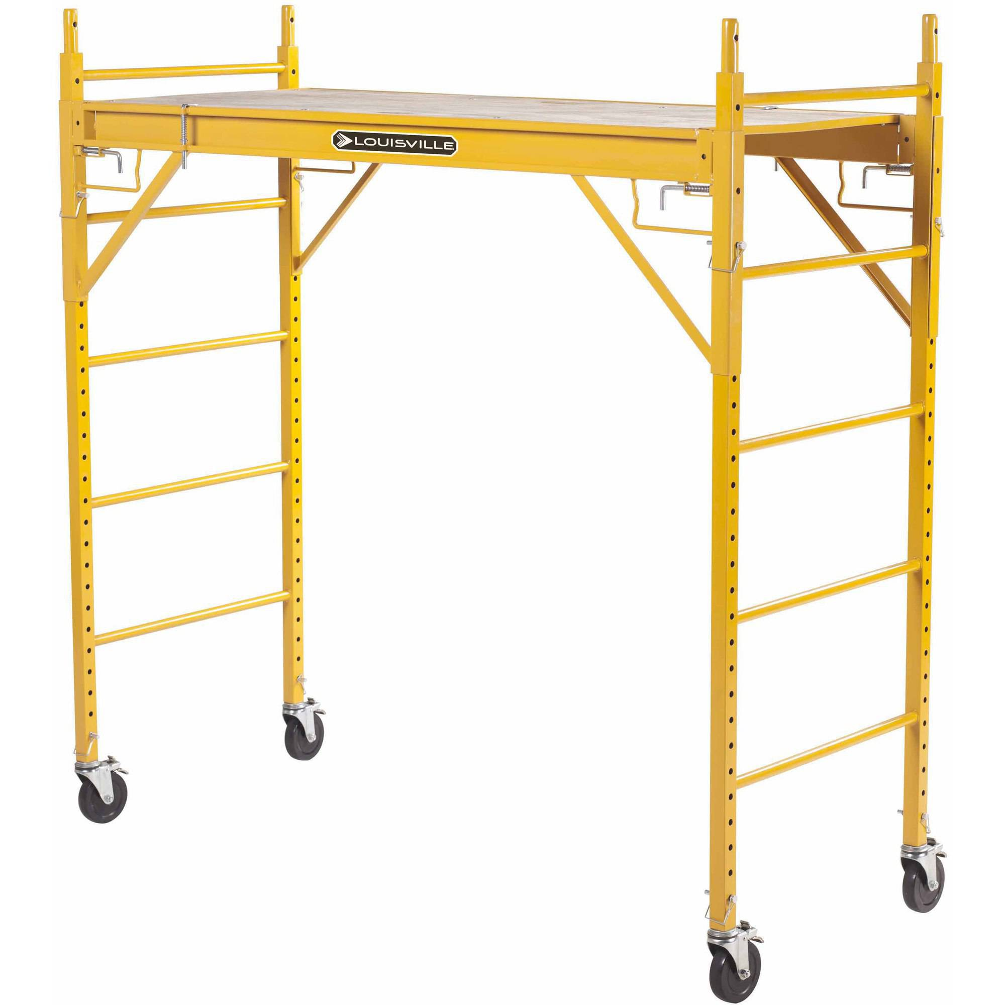 Louisville Ladder 6' x 6' Steel Rolling Scaffold, 1000 lbs Duty Rated by Louisville Ladder