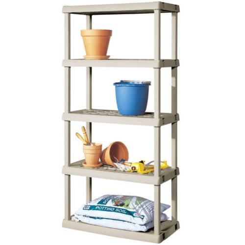 Sterilite 5 Shelf Unit- Light Platinum