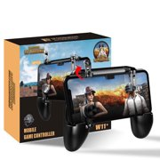 TSV Mobile Game Controller, Mobile Gaming Trigger for PUBG/Rules of Survival Gaming Grip and Gaming Joysticks for 4.7-6.5inch Android iOS Phone