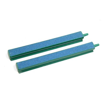 2pcs Airstone Bubble Air Curtain Diffuser Bar Aquarium Fish Tank Green Blue - Bubble Fish Light