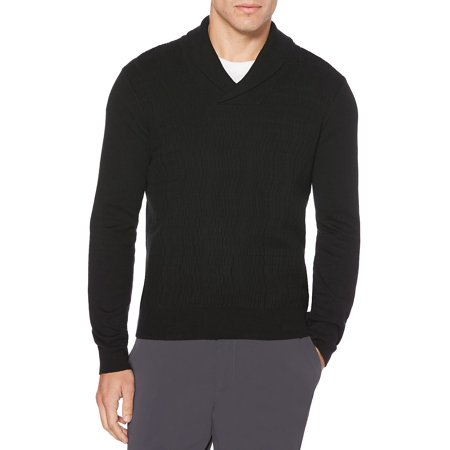 6994f6eb3 Perry Ellis - Cable Knit Shawl Collar Long Sleeve Sweater - Walmart.com