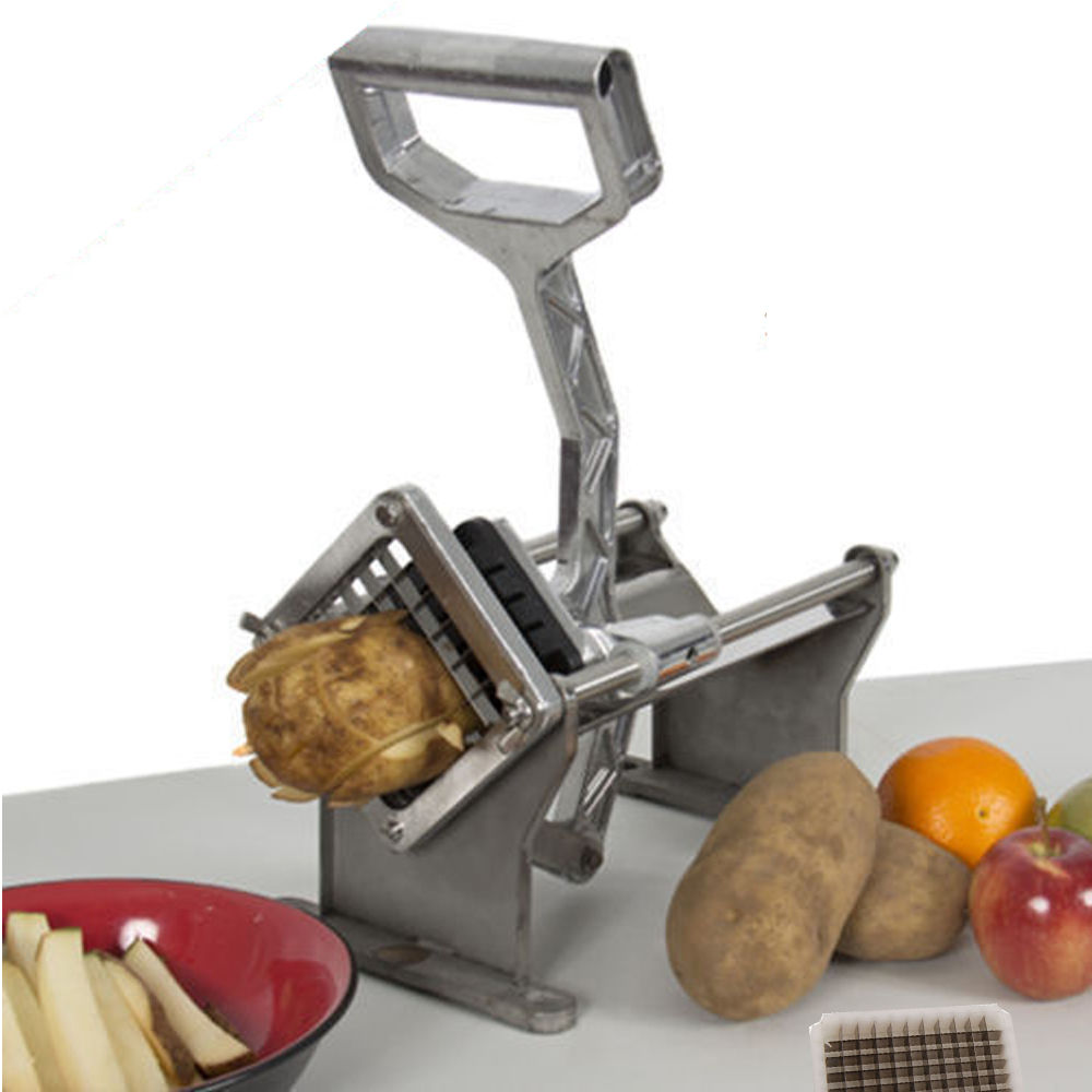 "Ktaxon French Fry Cutter Fruit Vegetable Slicer Potato Fruit Vegetable Cutter Slicer with  with 1/4'', 2/5"", 1/2'' Wedge Blades"