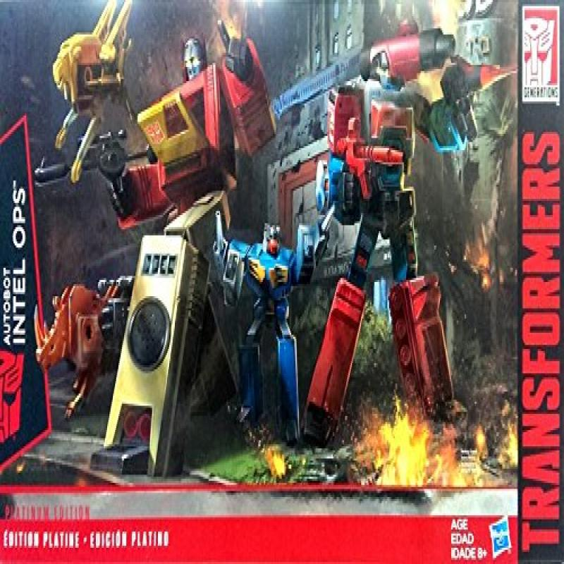 Hasbro Transformers Platinum Edition Autobot Intell Ops Blaster & Perceptor Set by Hasbro