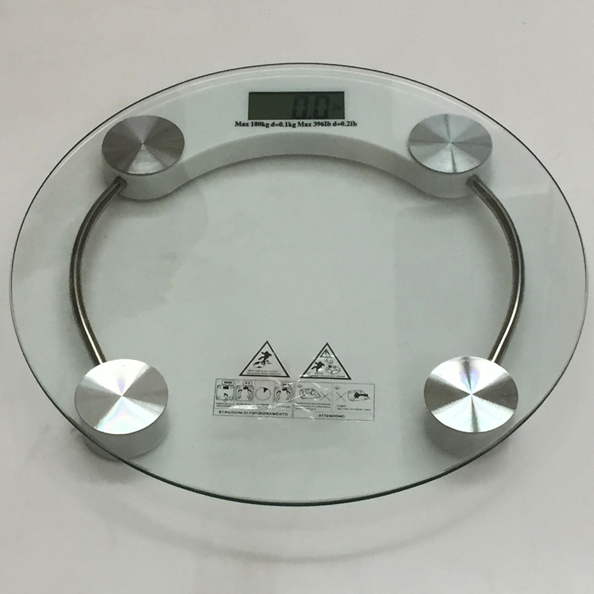 396lb Bathroom Personal Digital Body Weight Scale Safty Glass With LCD