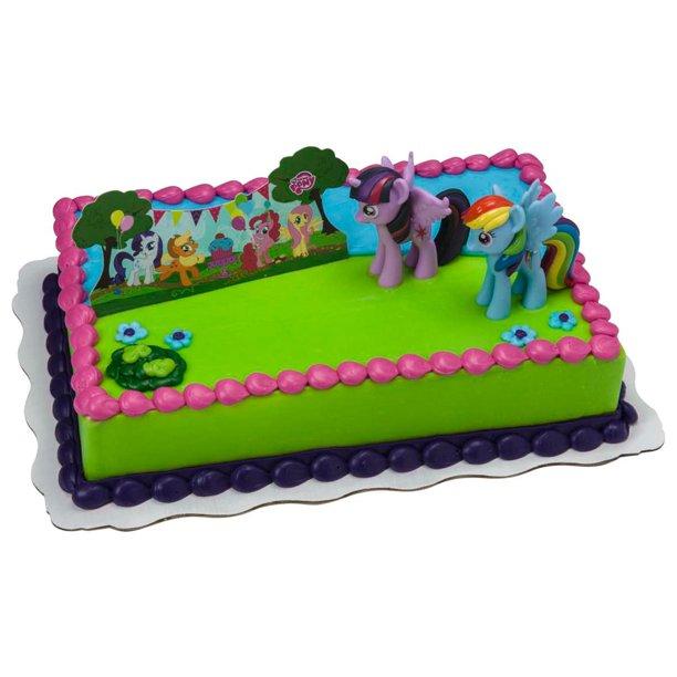 Enjoyable My Little Pony Its A Pony Party Kit Cake Walmart Com Walmart Com Funny Birthday Cards Online Eattedamsfinfo