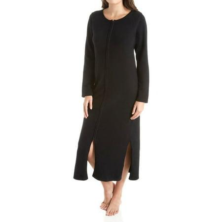 Cashmere Womens Robe - Women's Arlotta 3329 Long Front Zipper Cashmere Robe