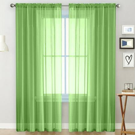 Sheer Curtains Living Room Rod Pocket, Sheer Curtains For Living Room