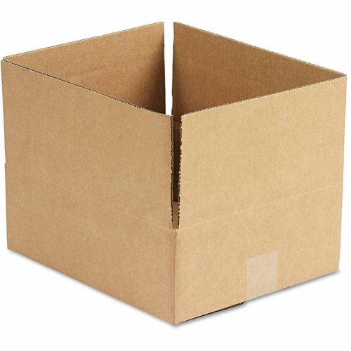 "General Supply Brown Corrugated, Fixed-Depth Boxes, 10"" x 12"" x 4"", 25 per Bundle"