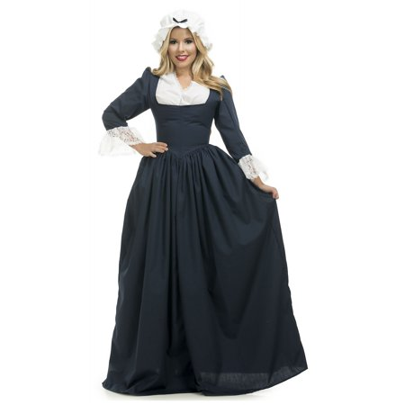 Colonial Woman Adult Costume Blue - Small