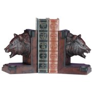 Bookends Bookend MOUNTAIN Rustic Bear Head Burled Wood Resin New Hand-Cast OK-11