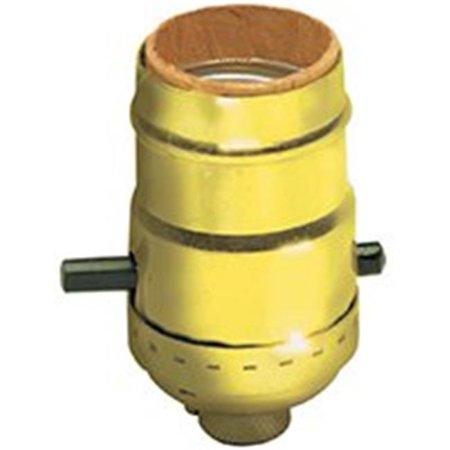 Socket Push Button Gilt Brs 053-06098-0PG
