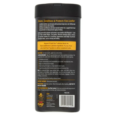 meguiars gold class rich leather cleaner & conditioner instructions