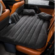 Waterproof Air Mattress Inflatable Bed for Car Back Seat Mobile Bedroom With Pump,Black