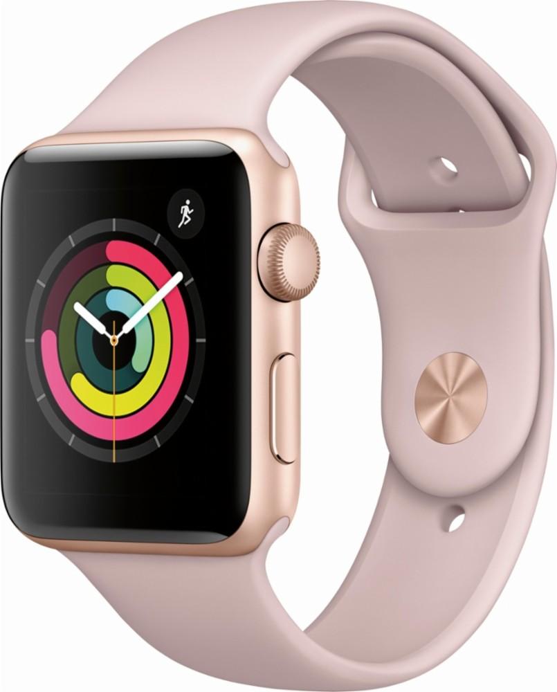 Refurbished Apple Watch Gen 3 Series 3 38mm Gold Aluminum - Pink Sand Sport Band 3D211LL/A
