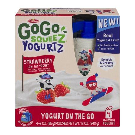 Gogo Squeez Yogurtz Low Fat Yogurt Strawberry   4 Ct