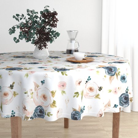 Round Tablecloth Oversized Floral Oversized Large Big Cabin Shop Cotton Sateen - Oversized Tablecloths