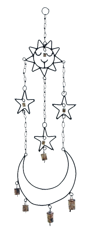 Beautifully Crafted High Quality Metal Wind Chime Hanger by Benzara