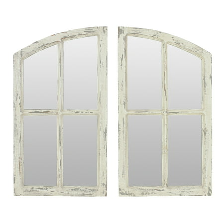 Jolene Arch Window Pane Mirrors Off-White 27