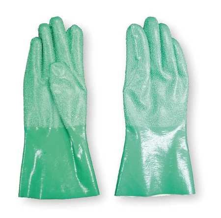 Condor 2YEL2 9 Green Nitrile Chemical Resistant Gloves by Condor