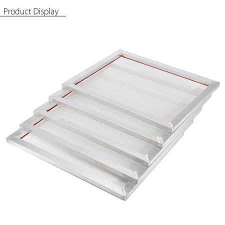 5Pcs Screen Printing Aluminium Frame 16''x20'' With White 47T Silk Print Polyester Mesh - Frame 230 Mesh