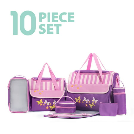 - SOHO Collections, 10 Pieces Diaper Bag SetLimited time offer (Butterflies Meadows)
