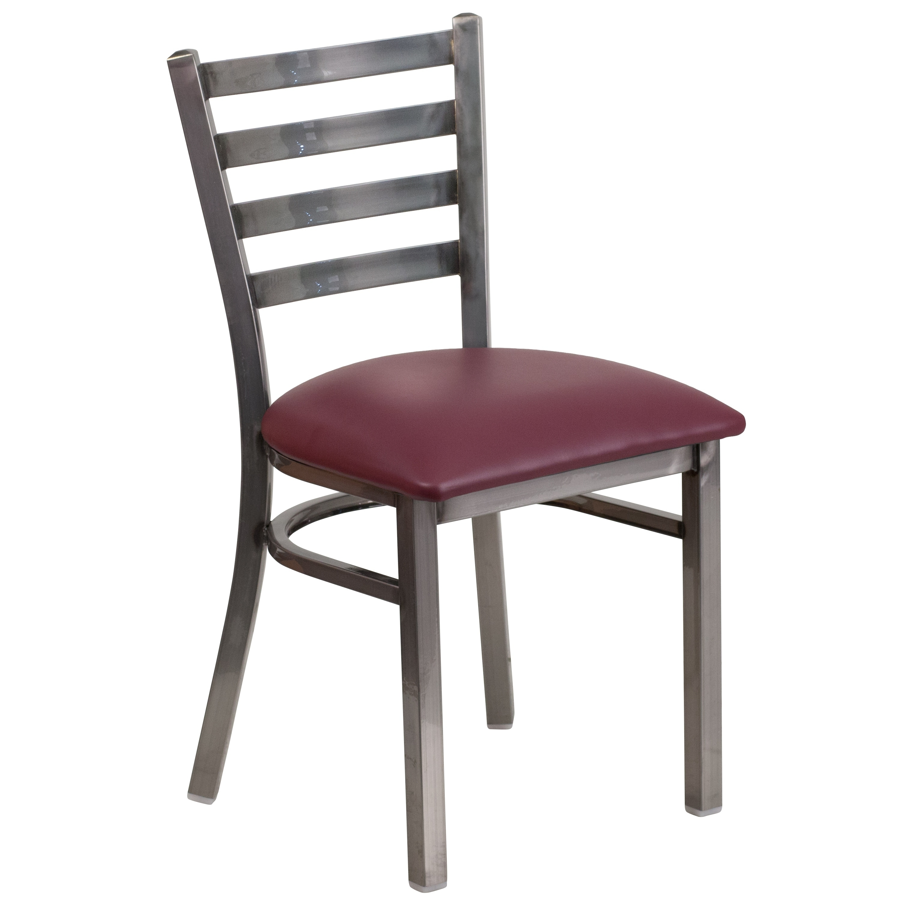 Lancaster Home Clear Coated Ladder Back Metal Restaurant Chair