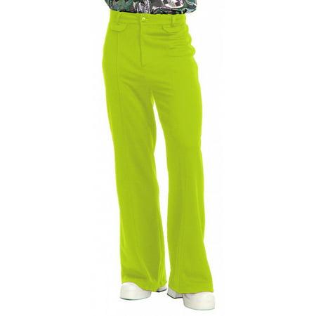 Disco Pants Adult Costume Lime - 42