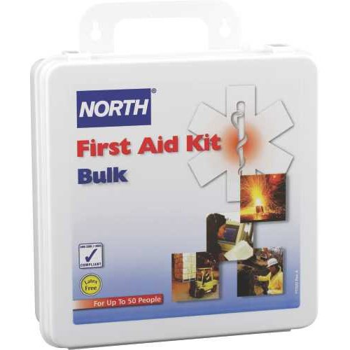 North by Honeywell 50-Person First Aid Kit, Bulk, Plastic