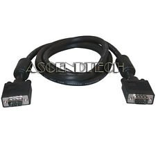 6' 6 FEET PREMIUM VGA SVGA D-SUB MALE TO MALE VIDEO MONITOR CORD SHIELDED CABLE