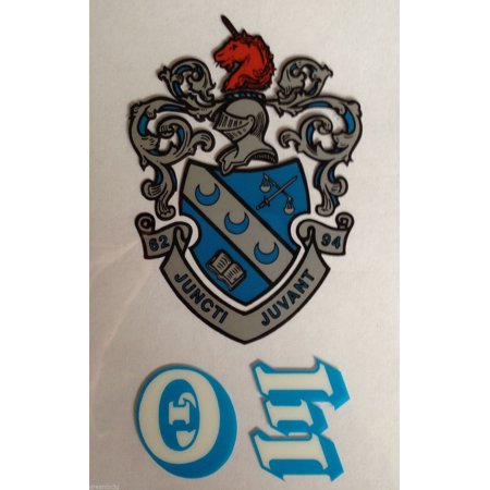 Theta xi 2 pack of inside stickers crest letters for Theta xi letters