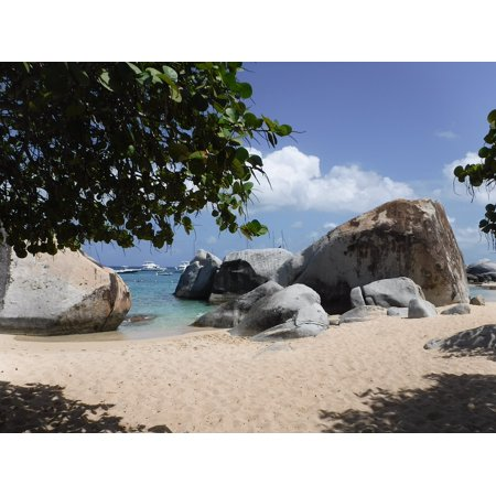 Proof British Virgin Islands (Canvas Print Islands BVI Scenic British Virgin Islands Beach Stretched Canvas 10 x)