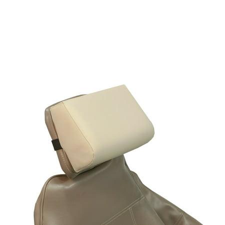 """Beige Head Rest Pillow Premium Memory Foam Dental Tattoo Medical 8"""" x 6.25"""" x 3.5"""" NEW"""