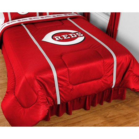 MLB Cincinnati Reds Comforter Set Baseball Bedding Queen