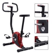 Exercise Bike Stationary Cycling Fitness Cardio Aerobic Equipment Gym Red by Costway