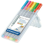Staedtler Triplus Fineliner 334 Drawing Pens: Neon, 6 Pens