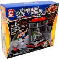 WWE Stack Down Universe Santino Marella's Cobra Cage 70 Pcs 21003 Construction Works with Major Block Brands