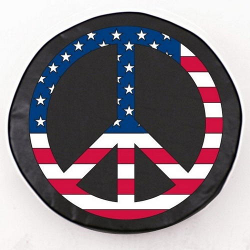 Tire Cover By Holland Bar Stool Usa Peace Sign Black
