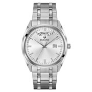 Bulova Men's Stainless Steel Silver Dial Quartz Classic Watch