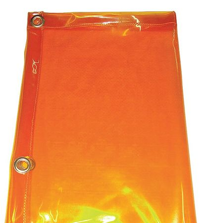 Westward 22RN57 Yellow PVC Welding Curtain