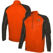 Cleveland Browns New Era Combine Authentic Two-a-Days Half-Zip Jacket - Orange