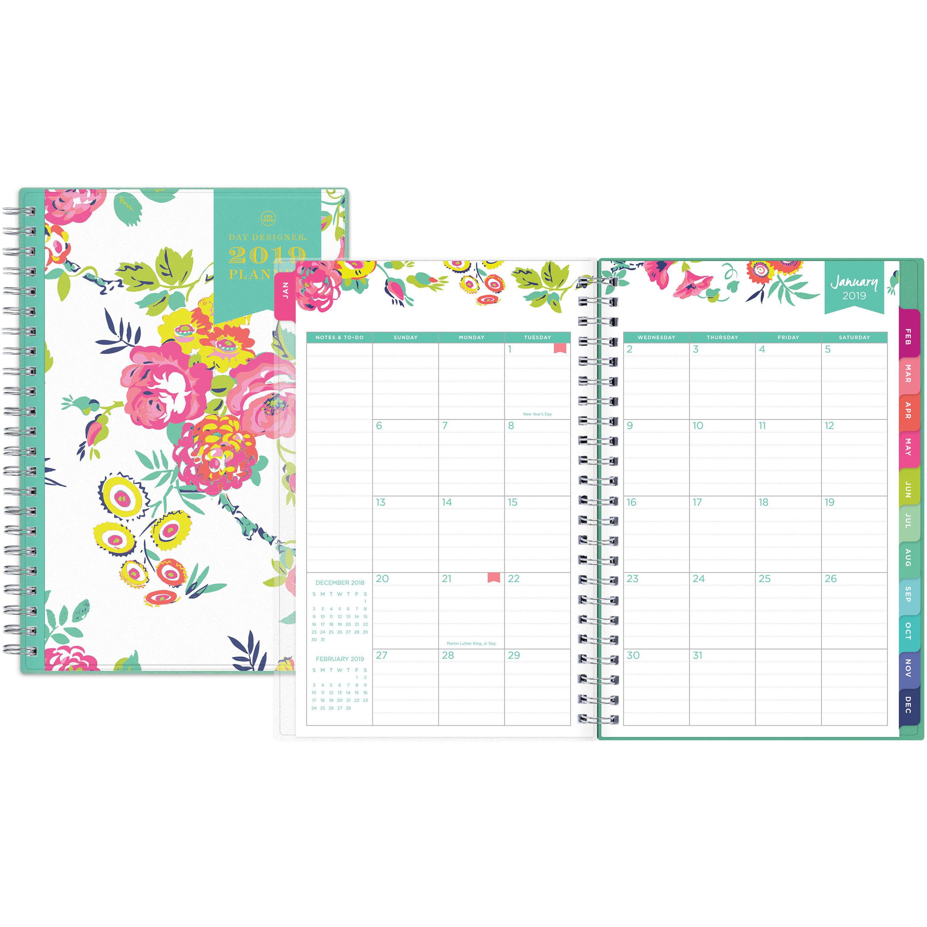 photo relating to Day Designer for Blue Sky identified as Working day Designer for Blue Sky 2019 Weekly Every month Planner, Dual-Cord Binding, 5\