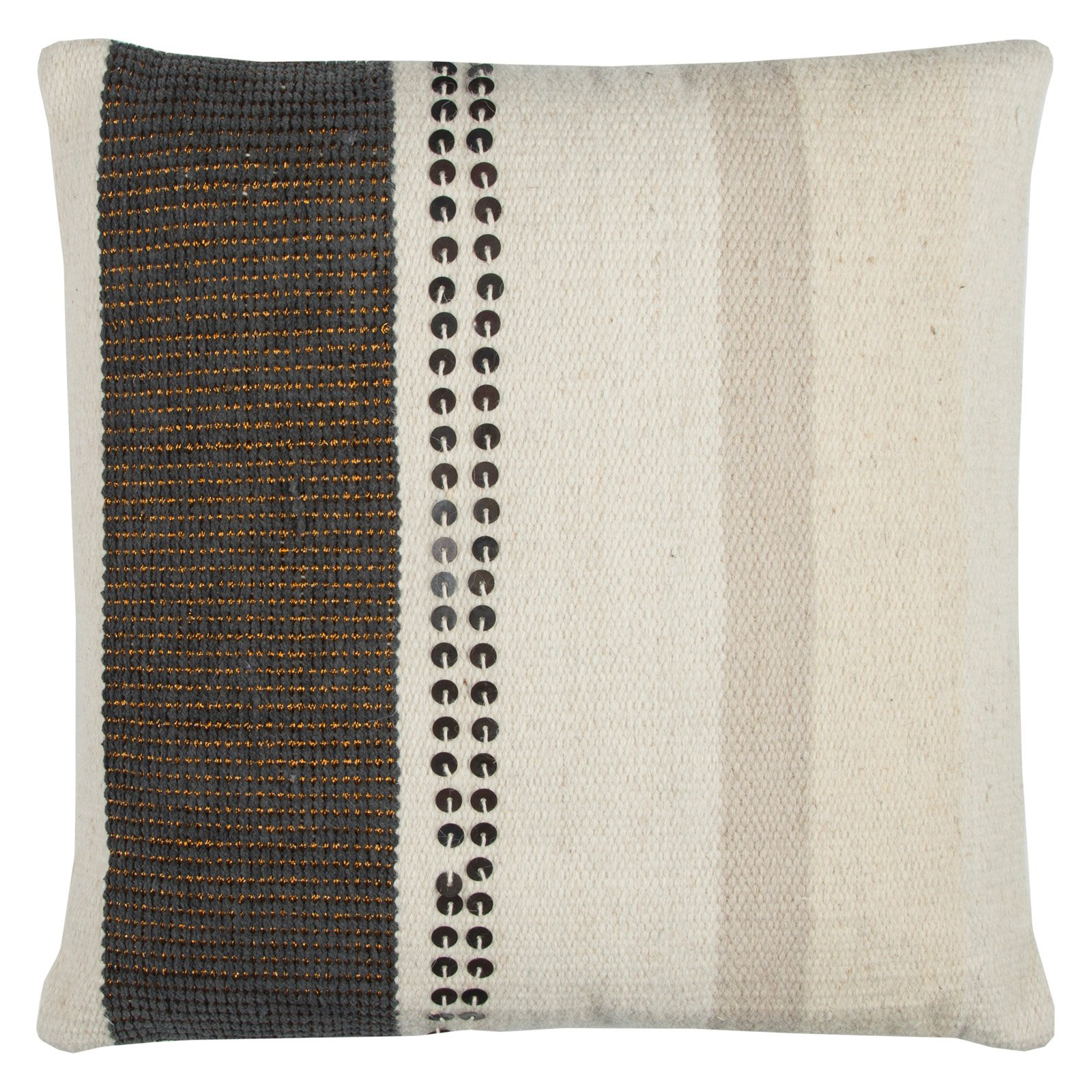 Rizzy Home Vertical Stripe Kilim20X20Cottondecorative filled pillow