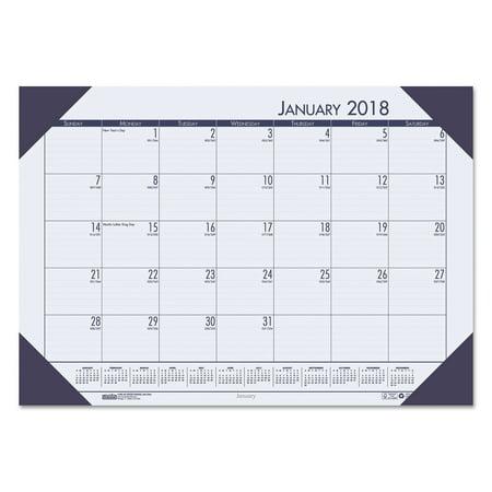Ecotones Monthly Desk Pad Calendar (House of Doolittle Recycled EcoTones Ocean Blue Monthly Desk Pad Calendar, 18 1/2 x 13, 2018 )