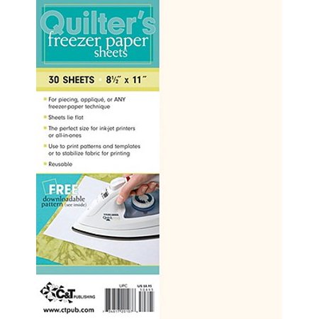 Quilter's Freezer Paper Sheets : 30 Sheets: 8 1/2