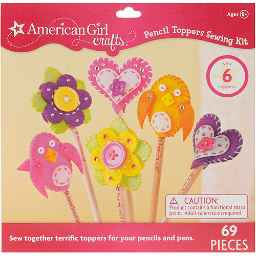 American Girl Sewing Kit, Pencil Toppers