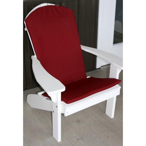 A & L Furniture Sundown Agora Adirondack Chair Full Cushion - 48L x 22W in.